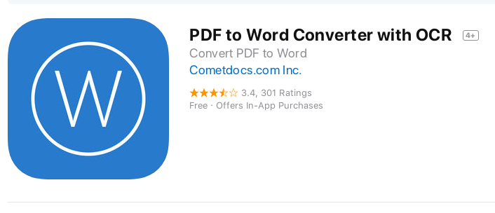 PDF to Word Converter app in App Store