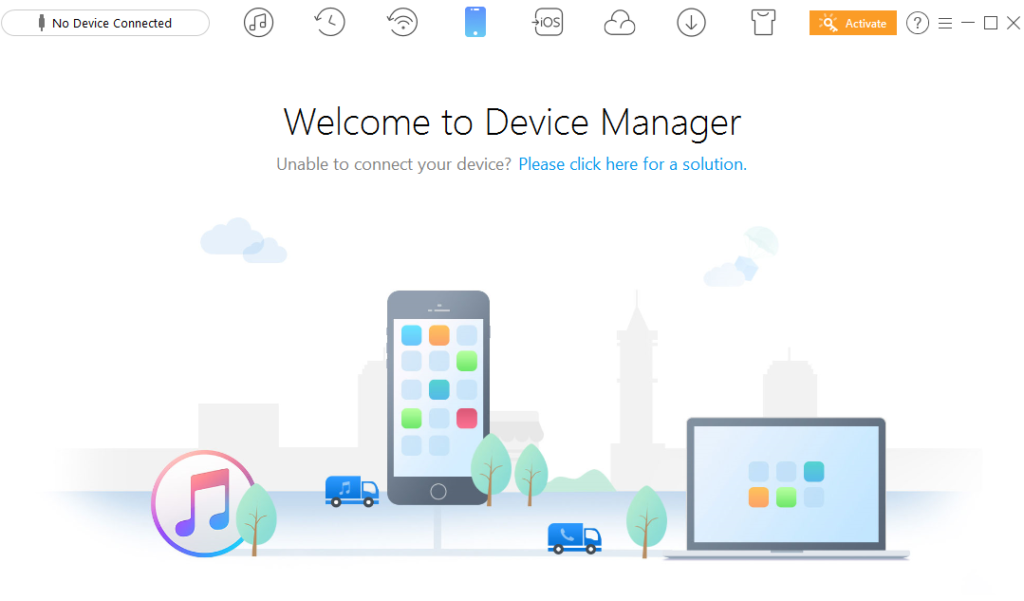 AnyTrans device manager