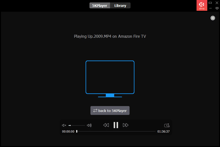 streaming movies from PC to TV using 5KPlayer