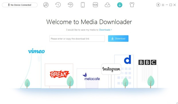 Media Downloader tool in AnyTrans