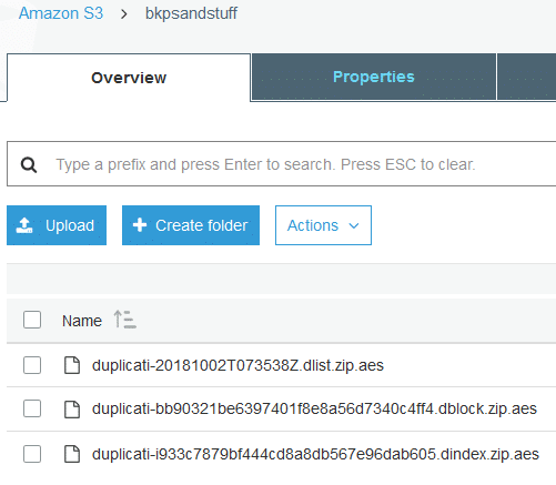 backed up data using Duplicati stored in Amazon S3