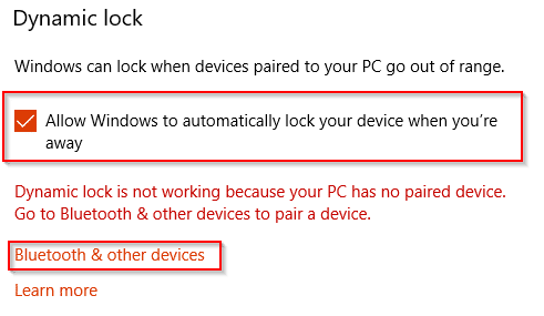 Enable Dynamic lock and set up Bluetooth pairing