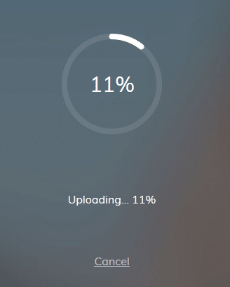 upload in progress