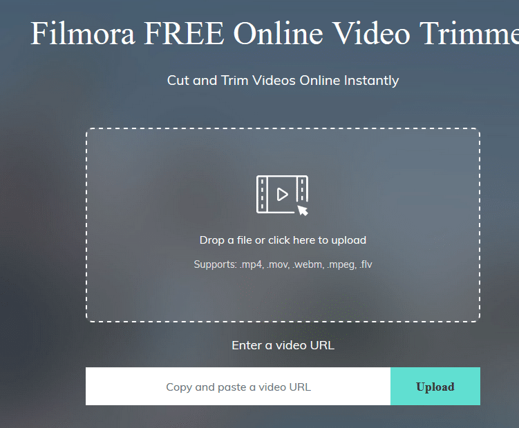upload videos to trim using Filmore Online Video Trimmer