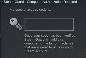 additional authorization when logging from a new PC to steam client