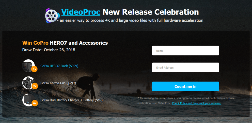 VideoProc GoPro sweepstakes