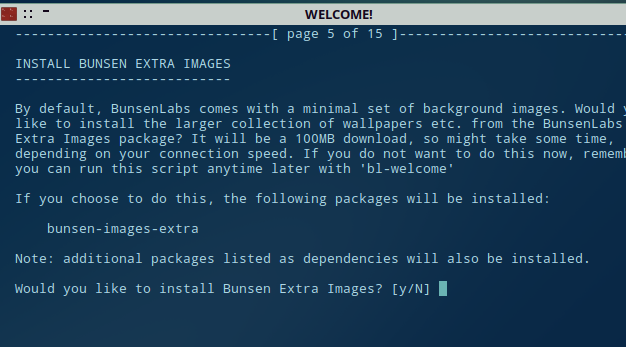 installing bunsen extras through the auto installation script