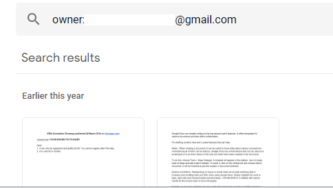 finding files by owner email in Google Drive