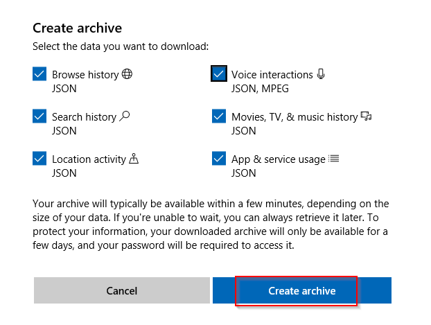 choosing what to download using Microsoft account management