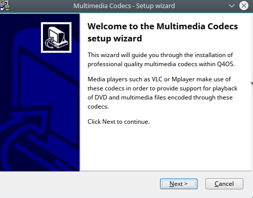 installing proprietary multimedia codecs in Q4OS