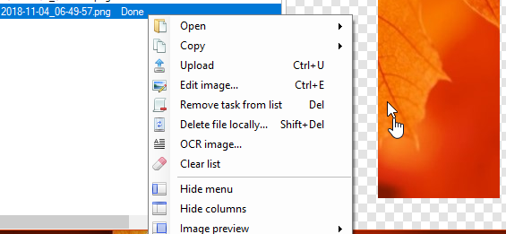 screenshot editing and other options in ShareX