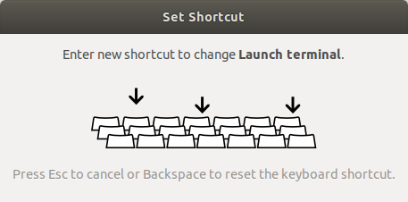 assigning custom keyboard shortcuts in Ubuntu 18.04