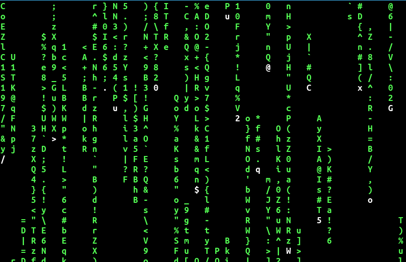 enable only bold characters display in cmatrix