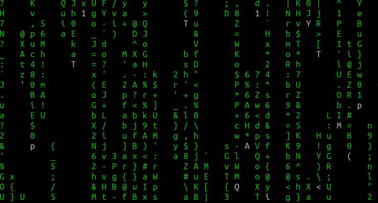 turn off displaying bold characters in cmatrix