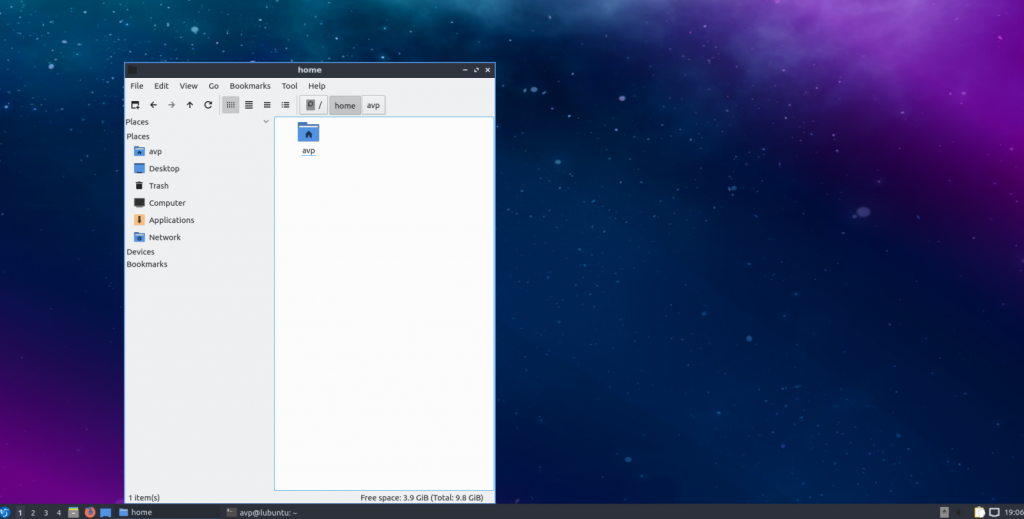 Lubuntu 18.10 with LXQt desktop environment