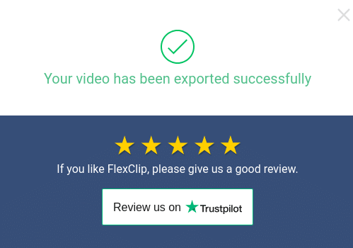 video successfully exported and downloaded using FlexClip