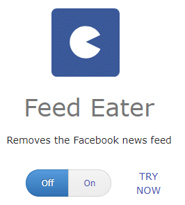 Feed Eater nudge for Facebook in HabitLab