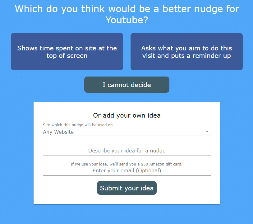 submitting nudge ideas in HabitLab