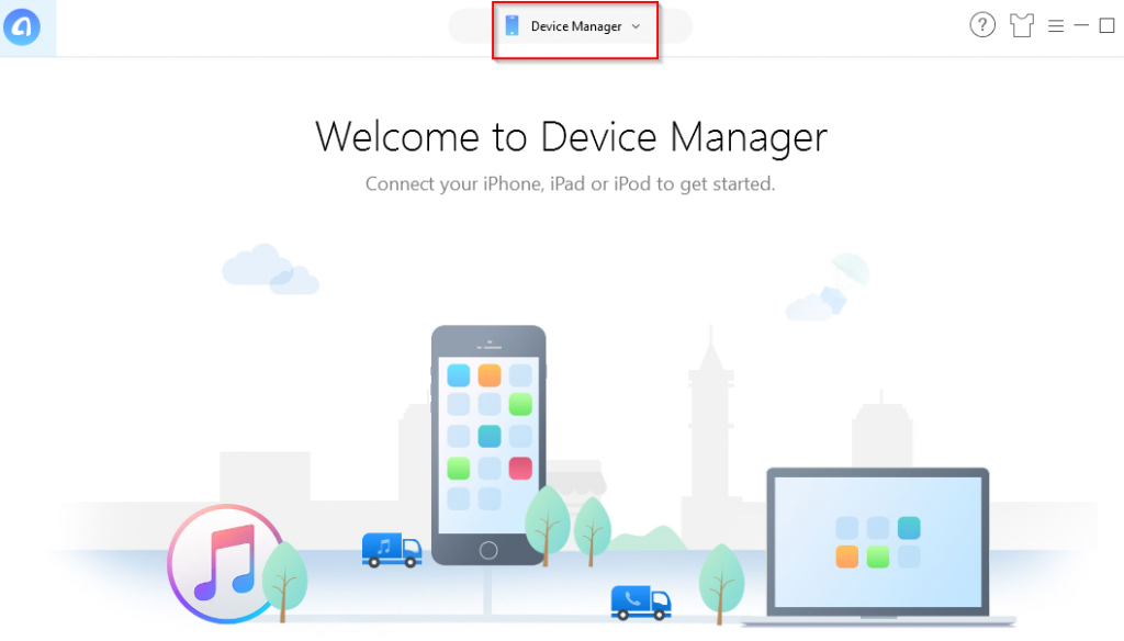 connecting iPad/iPhone to PC using AnyTrans Device Manager