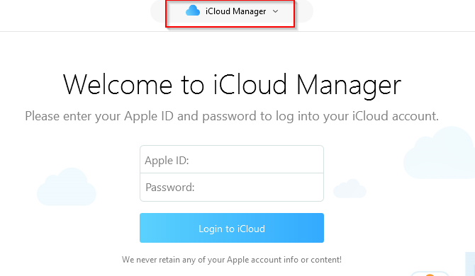 iCloud Manager in AnyTrans