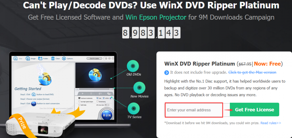 WinX DVD Ripper Platinum Giveaway 2019 page