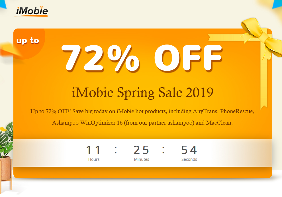 iMobie spring sale 2019 discounts