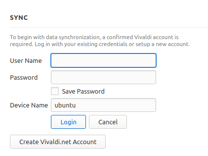 accessing Vivaldi sync from different PC