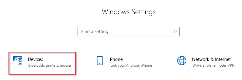 accessing Windows 10 settings