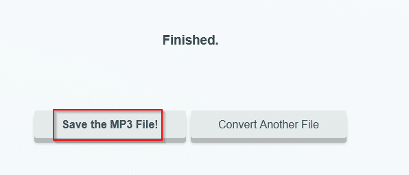 FLAC file converted to MP3 using FLAC to MP3 Converter Online