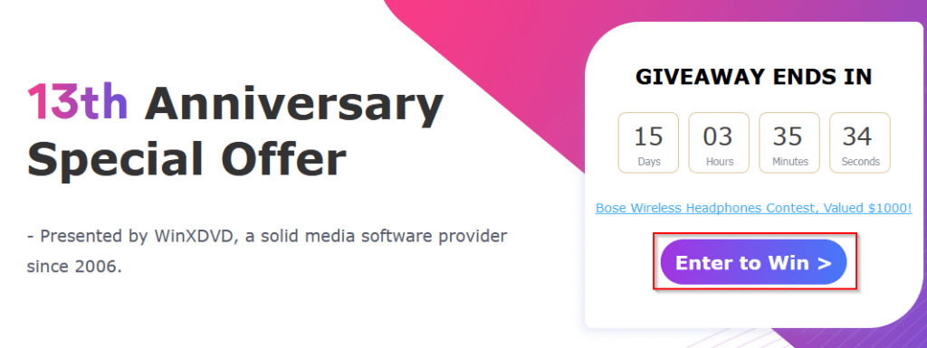 Digiarty 13th Anniversary Special Offer Giveaway and Sweepstakes