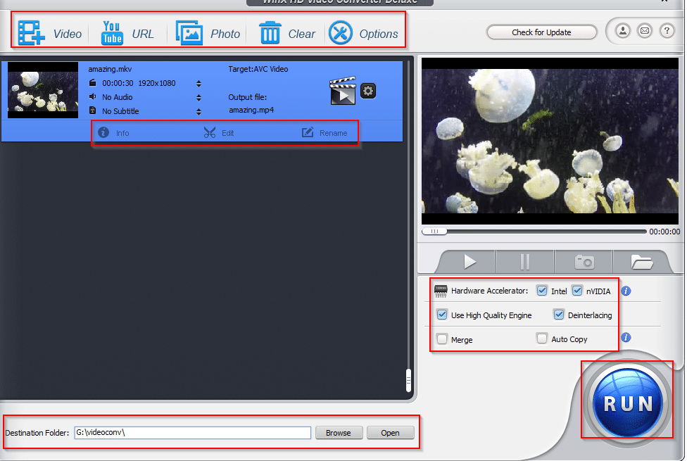editing source videos using WinX HD Video Converter Deluxe