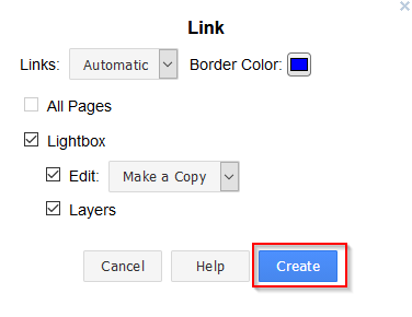 link display settings in draw.io