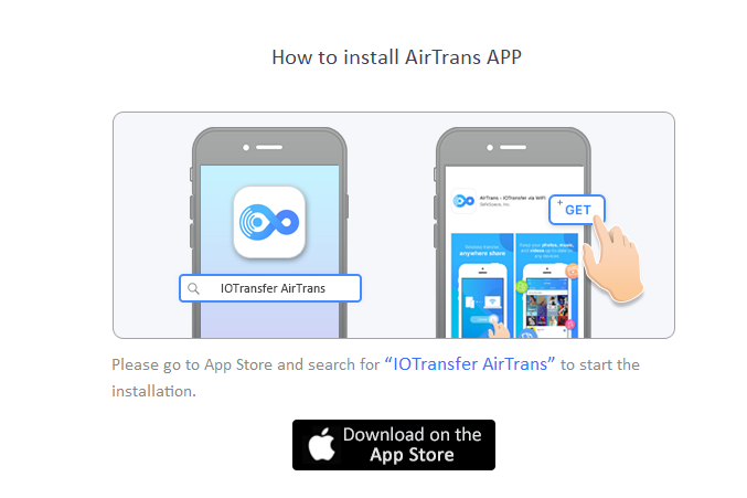 AirTrans app for iOS devices