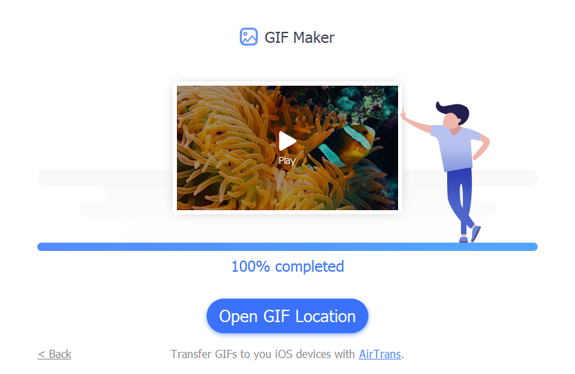 GIFs made from videos using GIF Maker in IOTransfer 3