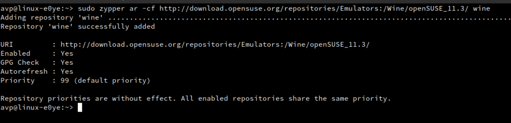 adding 3rd party repository using zypper in openSUSE