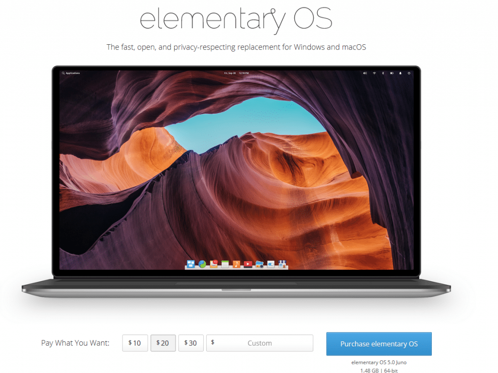 elementary OS download page