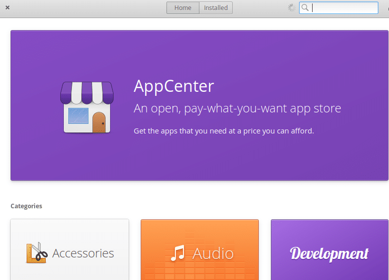 accessing AppCenter in elementary OS
