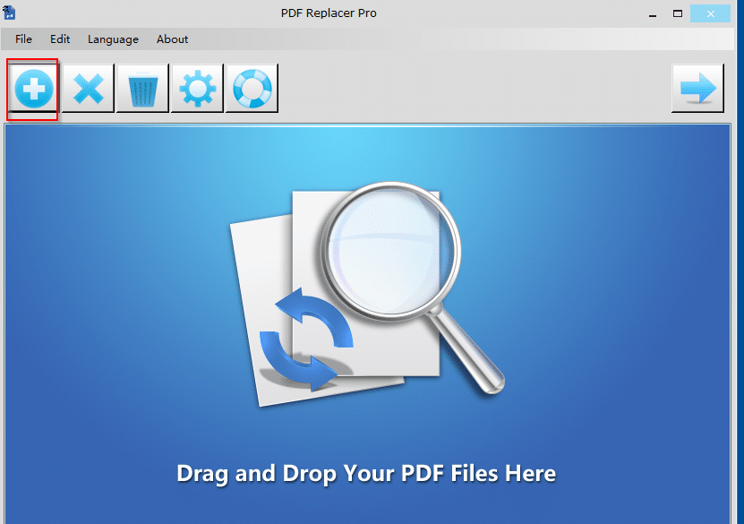 adding PDF documents in which text needs to be replaced using PDF Replacer Pro