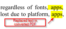 replaced words in PDF documents using PDF Replacer Pro