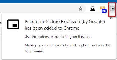 Picture-in-Picture Extension added to Chrome