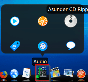 Audio editing and playback apps in Emmabuntüs