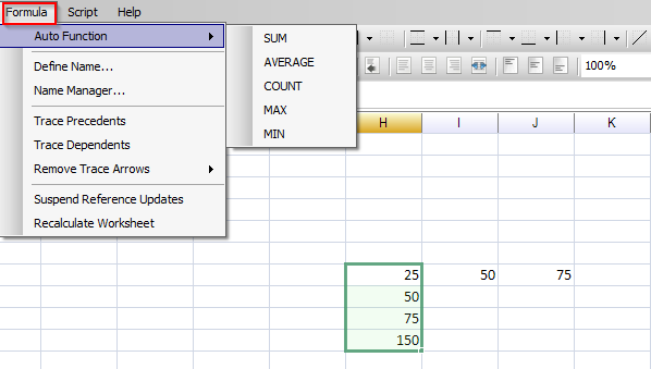 using basic Excel formulae in Free Excel Viewer