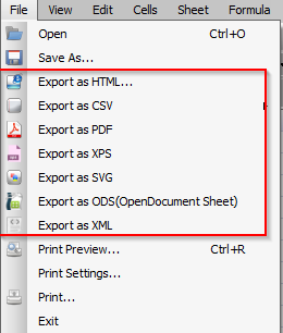 exporting Excel file to other formats using Free Excel Viewer