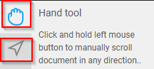 using the hand tool and selection tool for scrolling and selecting text in PDF Bob