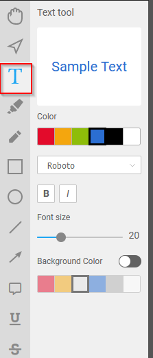 using the text tool in PDF Bob