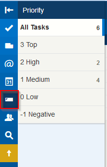 viewing tasks based on priority levels in Toodledo