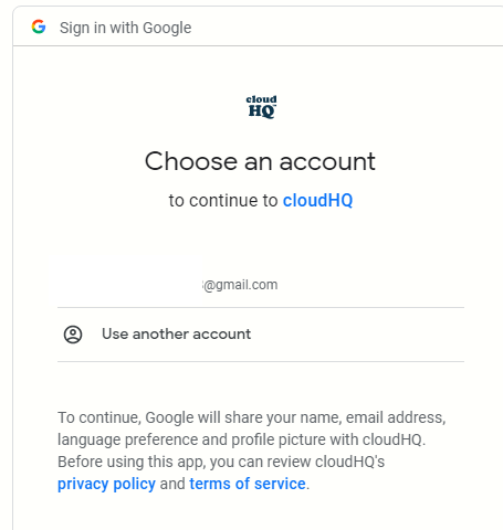 authorize add-on to access Gmail inbox