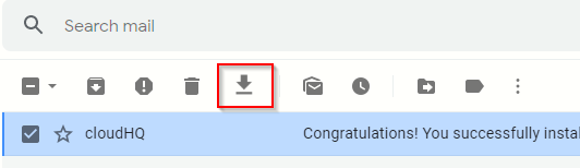 choosing Gmail message to be saved as PDF