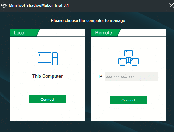 backup local or remote PC using MiniTool ShadowMaker Pro