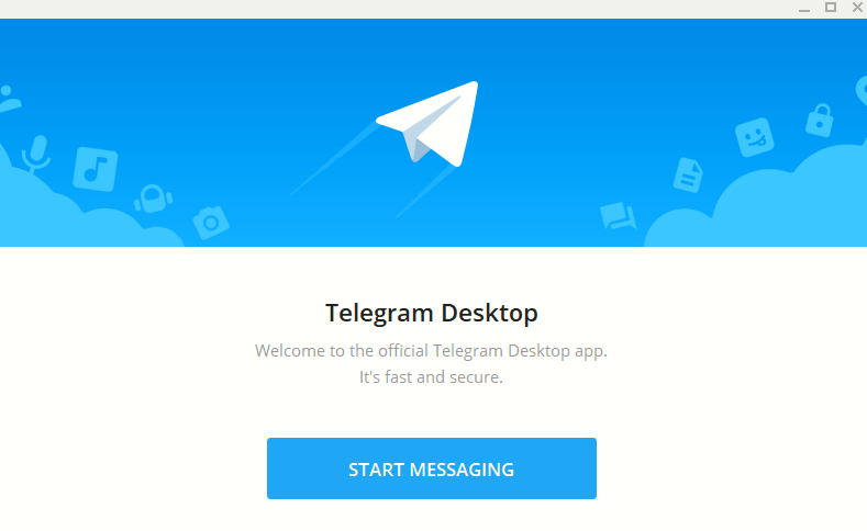 using Telegram Desktop app for the first time
